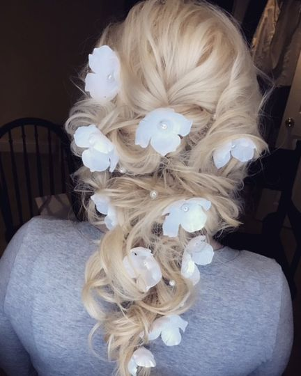 braided with flowers