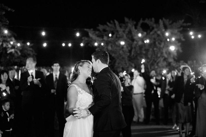 First dance under fairy lights