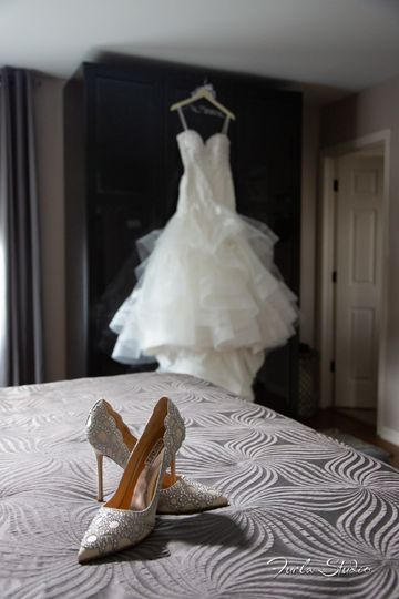 Brides dress & shoes