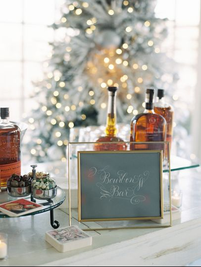Bourbon bar for the holidays