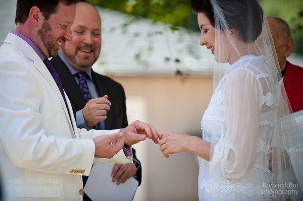 Outdoor wedding in oaklandcancion & matt