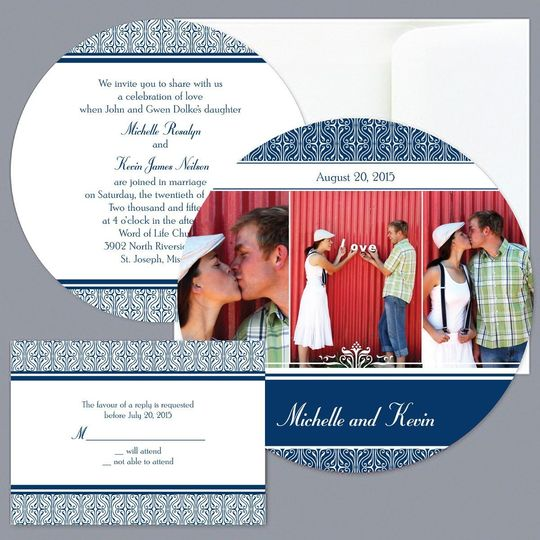 Metro Photo - Apple - Invitation Item Number DBP9855O7Z  A modern touch gives this photo wedding...