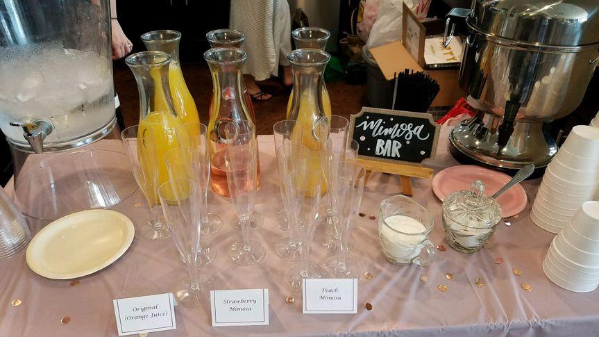Mimosa Bar for a Bridal Shower Brunch
