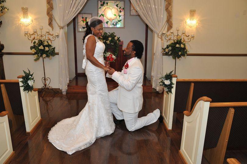 Classy intimate wedding dress style. Size 2-14