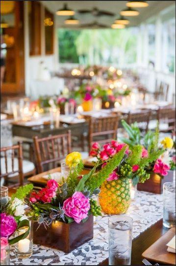 Colorful table setup