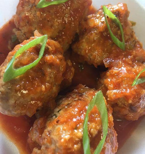 Meatballs w/ Kimchi Marinara