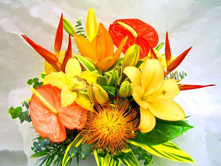 Tmx 1376412296895 Centerpiece Tropical Spring Orange Peach Yellow Bradenton, Florida wedding florist