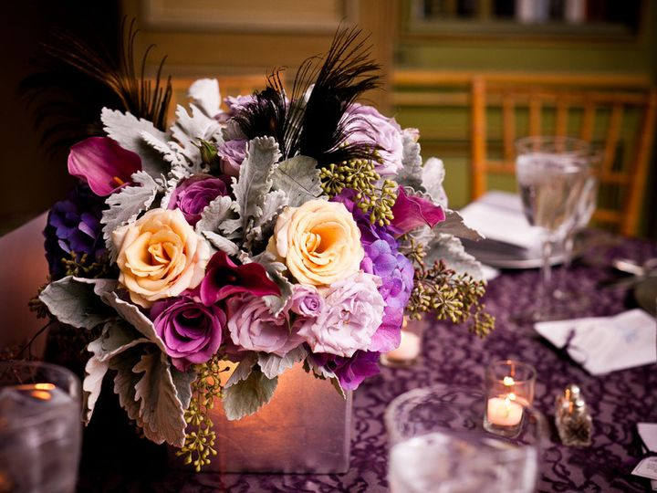 Tmx 1376412476611 Elegant Purple Centerpieces Bradenton, Florida wedding florist