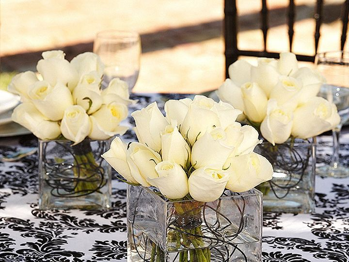 Tmx 1376413313450 Triple Vase White Wblack Wire Full Bradenton, Florida wedding florist