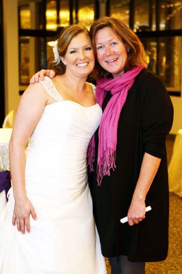 The bride with Jennifer Norton, the planner