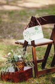 country brown wedding chair