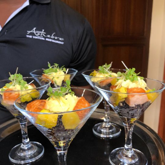 Smoked Salmon Poke Martini