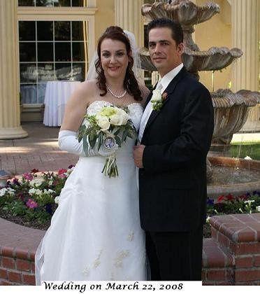 Sacramento wedding in March 2008