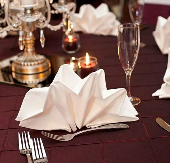 Fancy napkin folding
