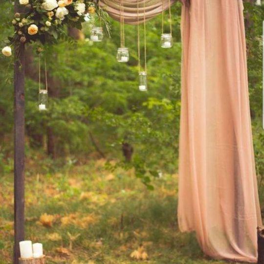 Rustic outdoor receptions
