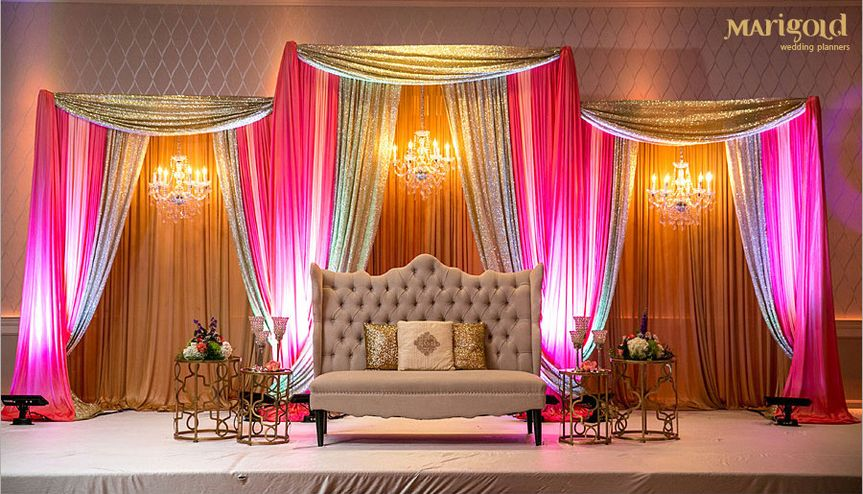 Asian Indian Weddings, stage decor