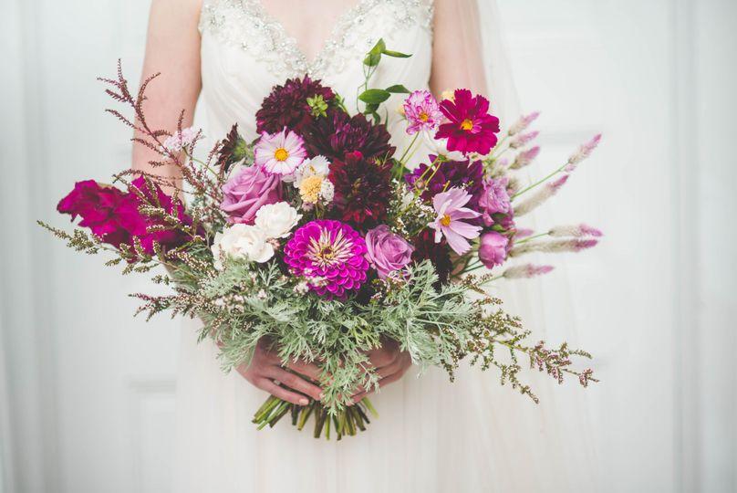 Bridal bouquet detail shot
