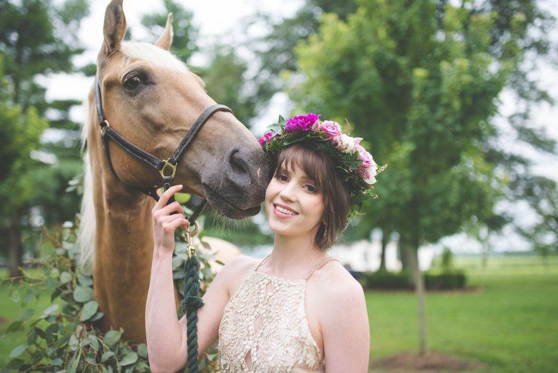 Equestrian bohemian wedding