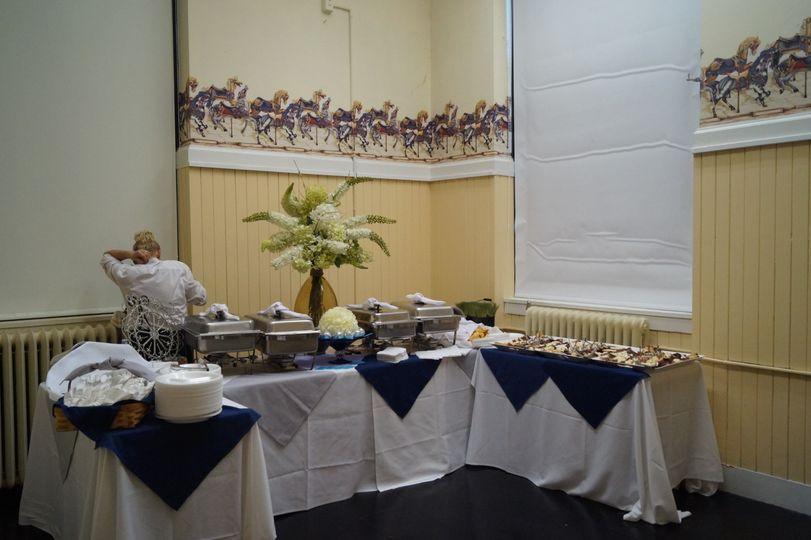 Parker Room Catering Setup