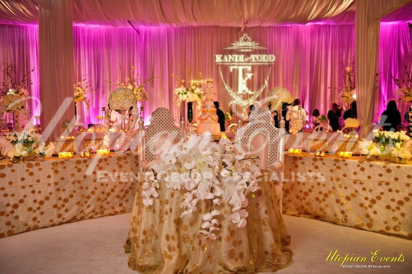 Yes, a Sneak peak to Kandi Burruss Wedding sweetheart table that Utopian Events Created:  Fit for...