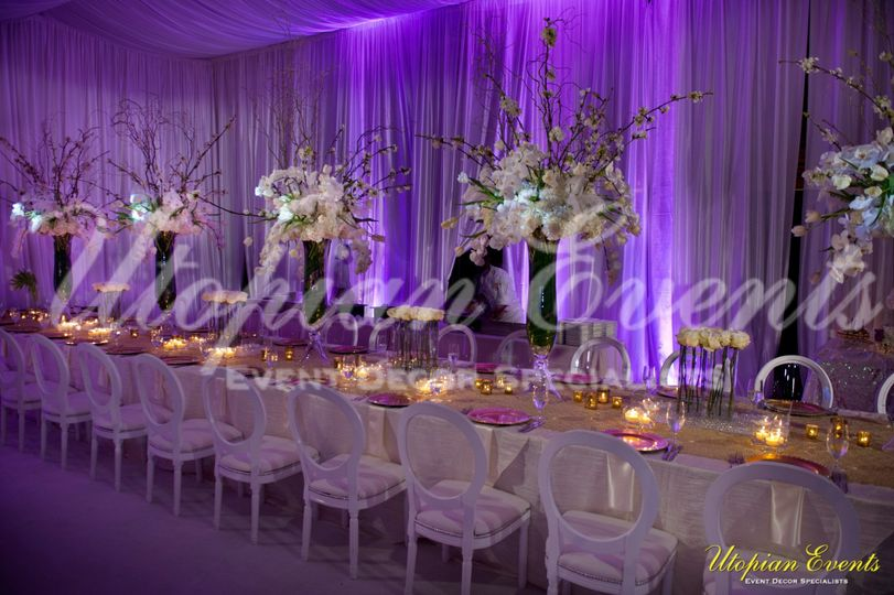 Yes, a Sneak peak to Kandi Burruss Wedding Estate Table that Utopian Events Created!