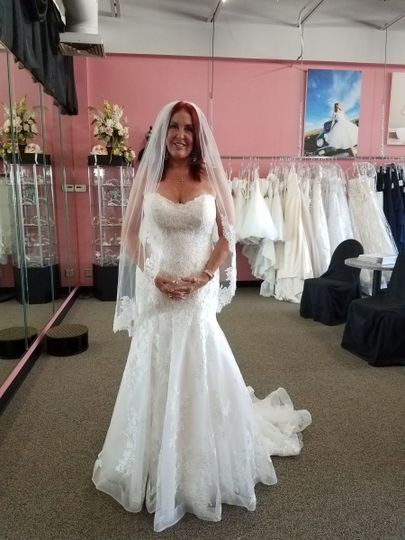 Beautiful all Lace and crystal bridal dress