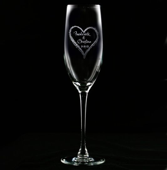 Bridesmaid gift ideas, groomsmen gifts such as best man and maid of honor engraved champagne...