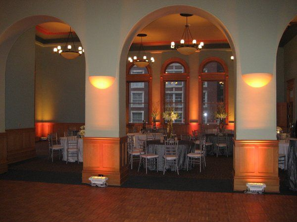 Friday and Sunday rentals have the dance floor (shown) included in the rental fee.