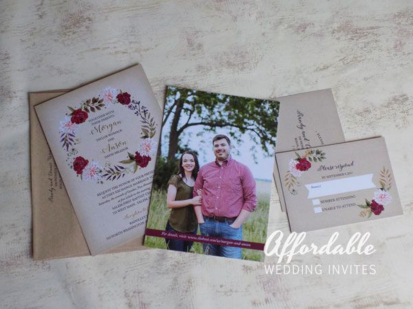 Custom Full Color with Foil Invitations