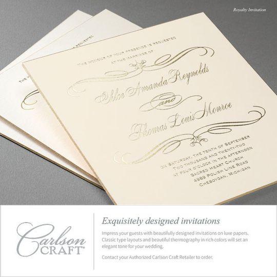 Gilded Goil Foil Invitations
