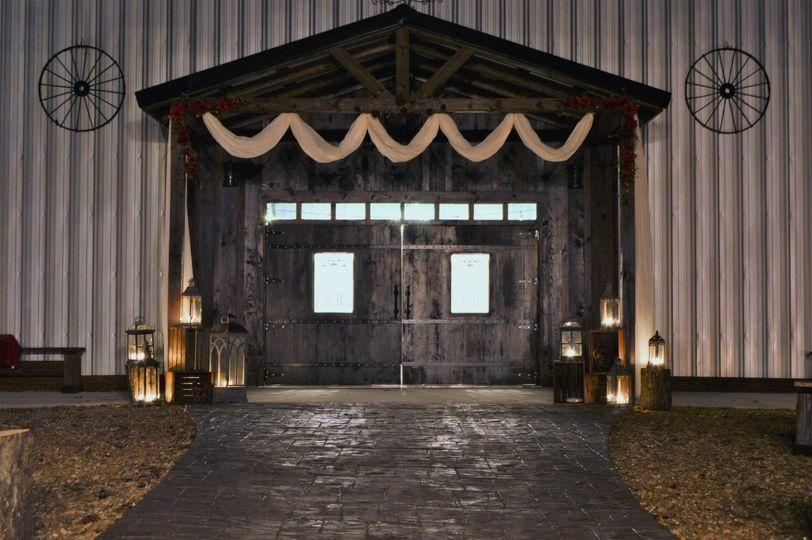 Rustic wedding area