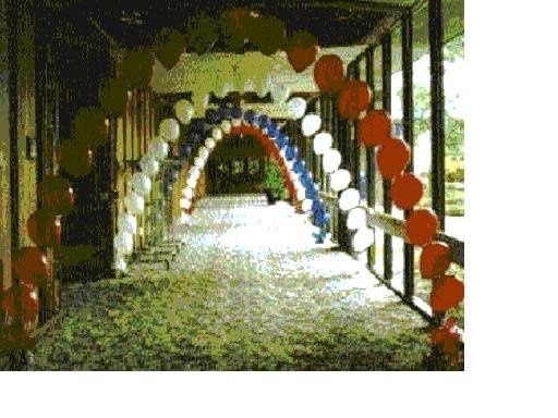 Your choice of colors. Entrance arches are a show stopper.