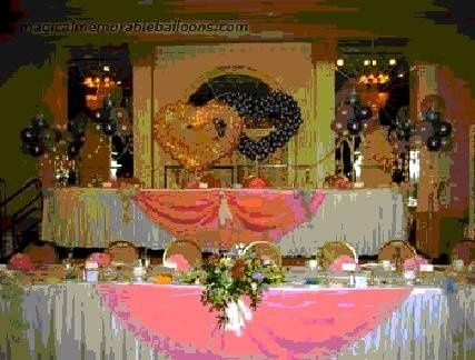 Standard rental on this Beautiful Back drop and Head table decor $180.00