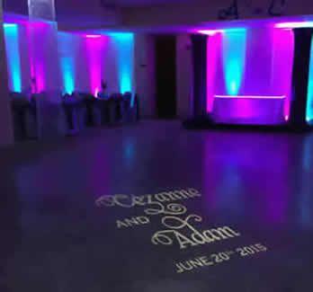 dance floor monogram