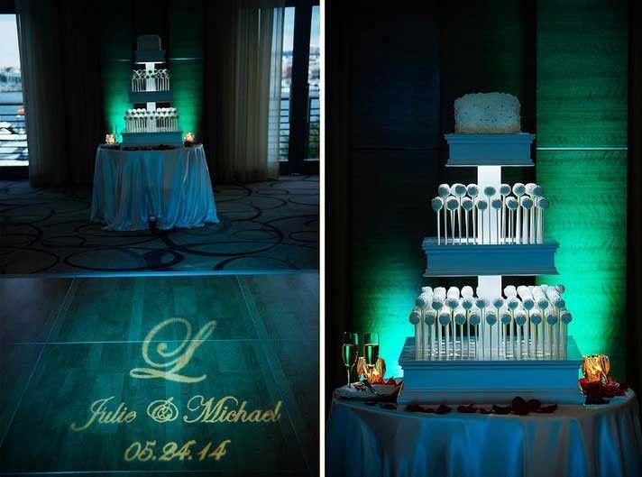 emerald uplighting