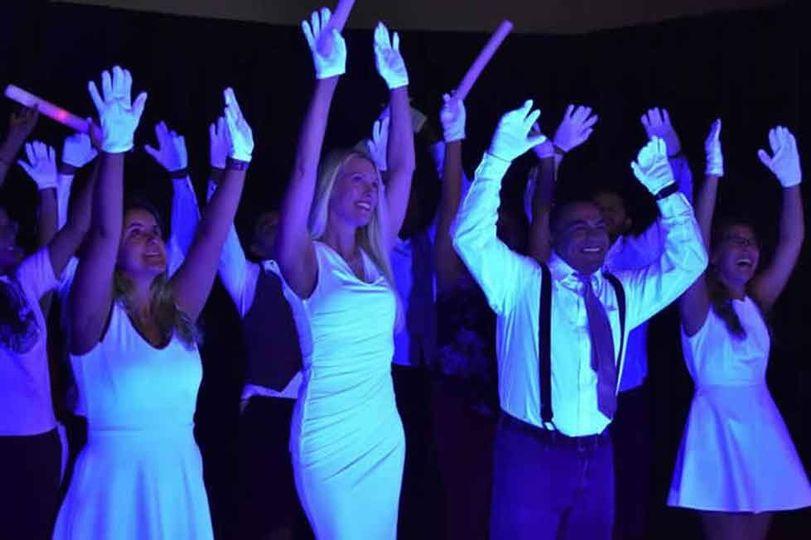 Black lights for glow dance