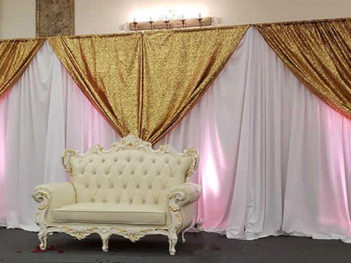 Tmx Gold Pipe And Drape 51 554622 1561560150 Miami, FL wedding eventproduction