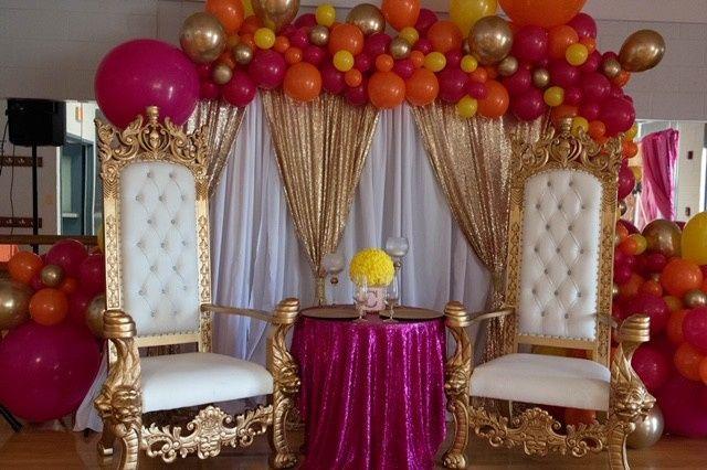 Tmx White Backdrop With Gold Swag 1 51 554622 1568227668 Miami, FL wedding eventproduction