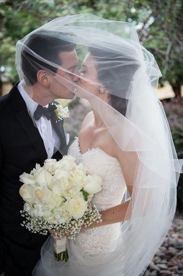 A veiled kiss