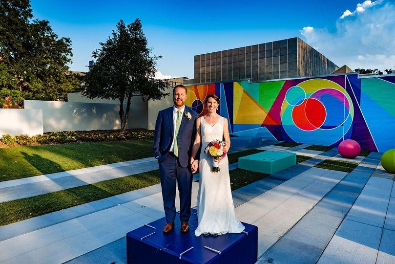 Colorful couple photo