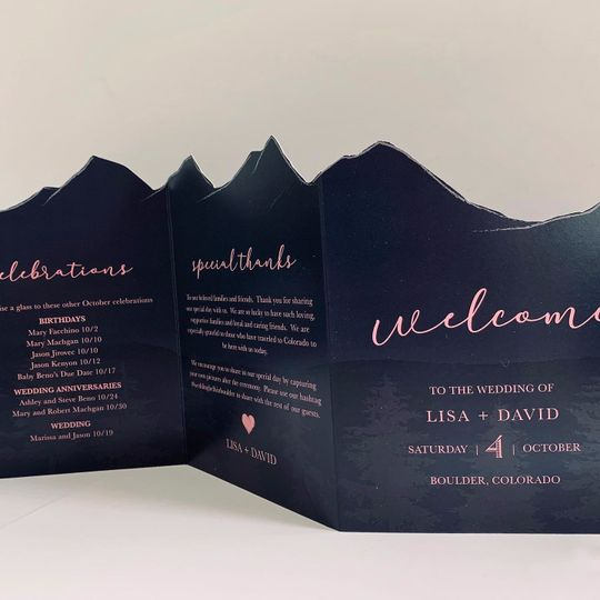 Colorado Wedding Program