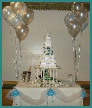Tmx 1199813915181 Weddingcakefountainaquaandsilver Pelham wedding cake