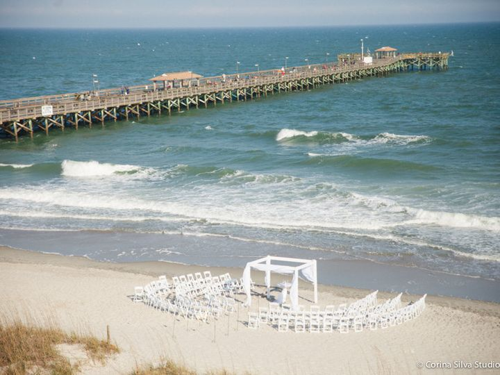 Tmx 1512657362070 Beach Ceremony With 4 Post Arbor Myrtle Beach, SC wedding venue