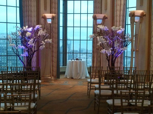 Wedding at Westin St. Francis in San Francisco.  Ceremony area during the day.