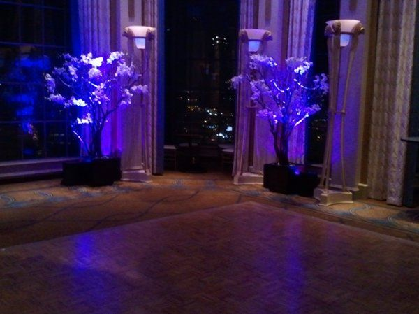 Wedding at Westin St. Francis in San Francisco.  Ceremony Area during night.