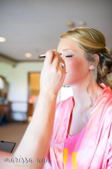 bride in makeup