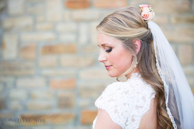 bride in profile