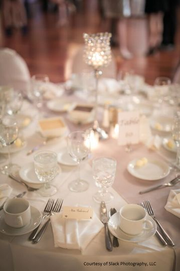 Traditional Table Set-up