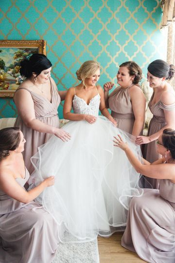 The gorgeous bride getting ready with her girls in our bridal suite!