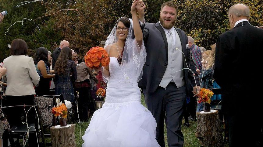 A very happy couple